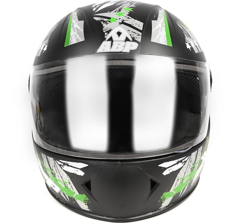 ABP MOTO Full Face ISI Mark Motorbike Helmet Motorbike Helmet(Black, Green)