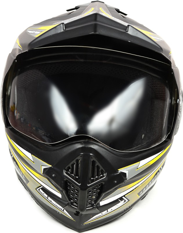 ABP FLY RACING MOTORBIKE HELMET Motorbike Helmet(Black, Yellow, Grey)