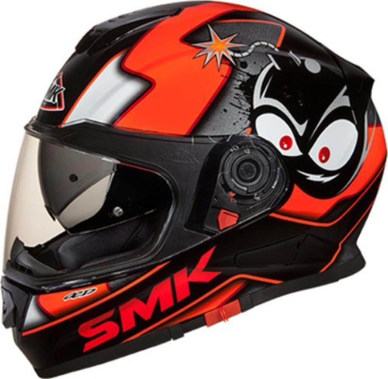 smk CARTOON GL 271 Motorbike Helmet(Black)