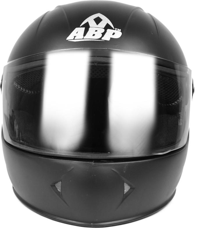 ABP MOTO Full Face ISI Mark Motorbike Helmet MATTE Motorbike Helmet(Black)