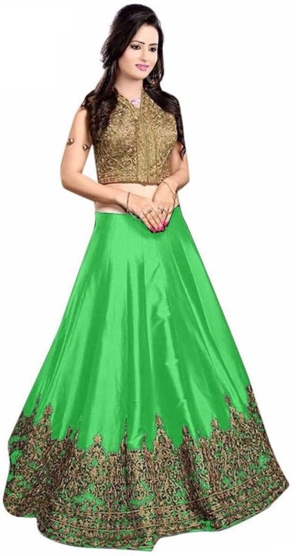 Ashwi Creation Embroidered Lehenga Choli(Green)