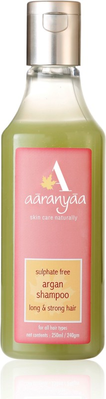 Aaranyaa Sulphate free Argan Shampoo with Amino Fruit Extract Brahmi Ashwagandha Reetha and Argan Oil for Intensive Care(250 ml)