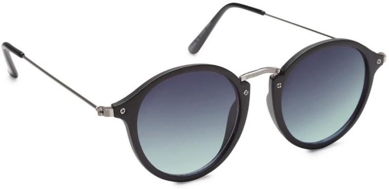 Get Glamr Round Sunglasses(Blue) image