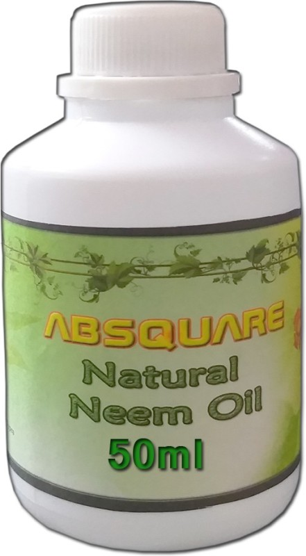 absquare Natural & Pure Cold Pressed Unrefined Neem oil 50 ml ,Natural & Undiluted For Skincare,Hair Care ,Body and Essential Oils(50 ml)