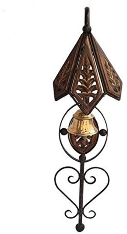 sk handicrafts Wooden door bell Wooden wrought iron Indoor Bell (Brown, Pack of 1) Bell Pull Ends
