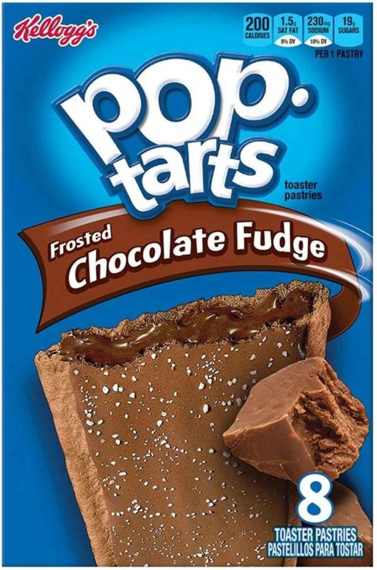 Kellogg's Pop Tarts Toaster Pastries, Frosted Chocolate Fudge, 8 pack - 416g(416 g, Box)
