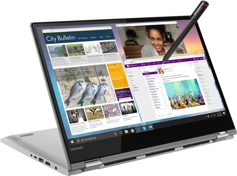 Lenovo Yoga 530 Core i7 8th Gen - (8 GB/256 GB SSD/Windows 10 Home/2 GB Graphics) 530-14IKB 2 in 1 Laptop(14 inch, Mineral Grey, 1.67 kg, With MS Office)
