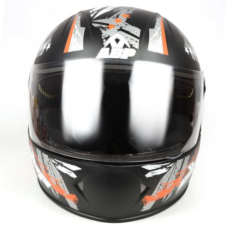 ABP Full Face ISI Mark Motorbike Helmet Motorbike Helmet(Black, Orange)