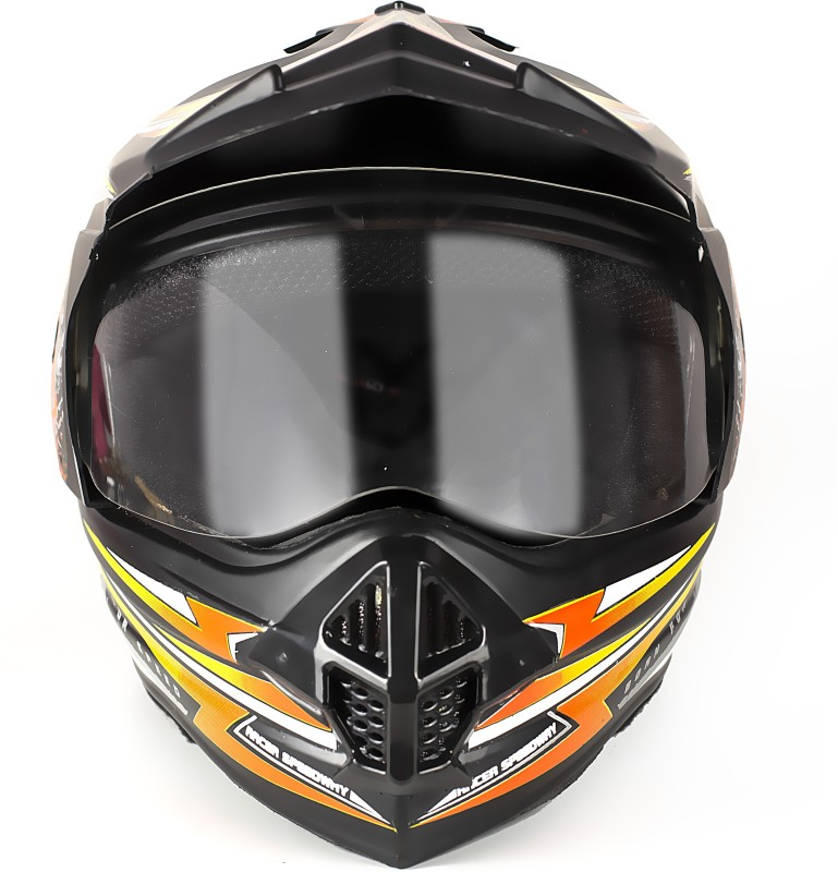 abp FLY RACING MOTORBIKE HELMET Motorbike Helmet(Black, Yellow, Orange)