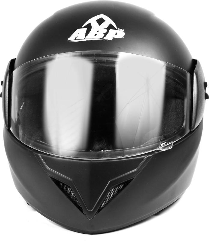 ABP NITRO Full Face ISI Mark Plain Black Matte Motorbike Helmet Motorbike Helmet(Black)