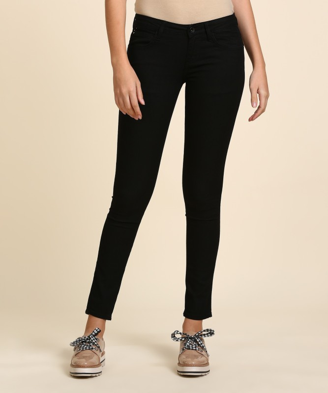 Wrangler Skinny Women Black Jeans