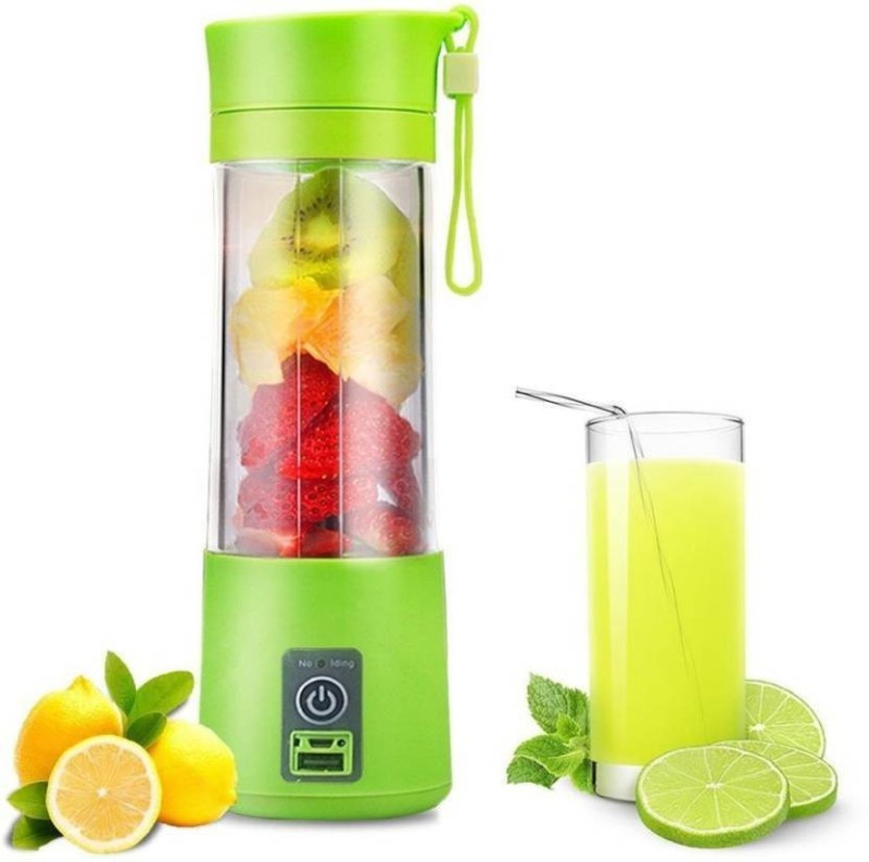 KRITAM USB Rechargeable Mini Portable Smoothie Blender Fruit Vegetable Electric 380ml 20 Juicer (Multicolor , 1 Jar) 2000 W Juicer Mixer Grinder(Multicolor, 1 Jar)