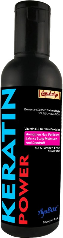 Aayushalya Keratin Protein Natural Shampoo (Chemical Free) Paraben, Sulphate & SLS free (200ml)(200 ml)
