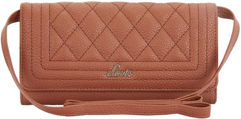 Lavie Women Casual Tan Artificial Leather Wallet(6 Card Slots)