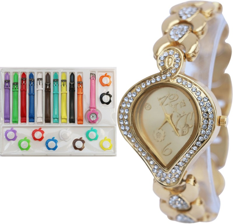 NEUTRON New Analogue Multi Color And Gold Color Combo Watch (G67-G229) For Girls And Women Watch - For Girls