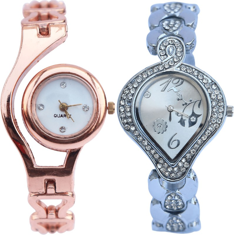 NEUTRON Modish Chronograph Rose Gold And Silver Color Combo Watch (G69-G231) For Girls And Women Watch - For Girls