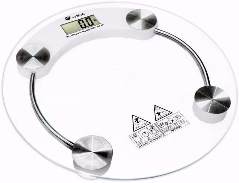 J Go The Business Hub Personal Scale Weighing Scale(Transparent)