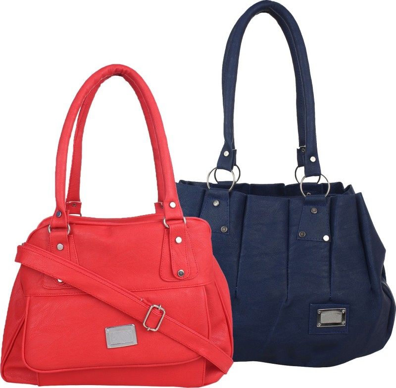 Fillincart Women Red, Blue Hand-held Bag