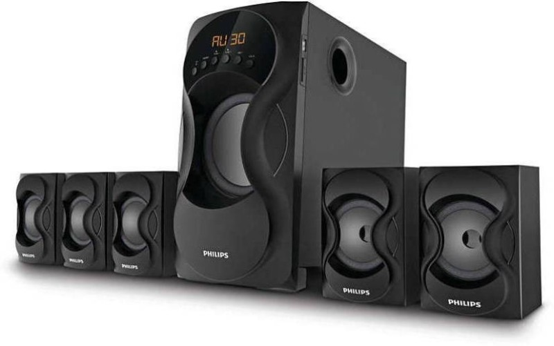 Philips IN-SPA 5162B Bluetooth 5.1Ch Bluetooth Home Theatre(Black, 5.1 Channel)