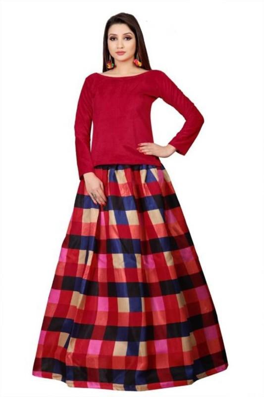 PMD Fashion Printed Lehenga Choli(Multicolor)