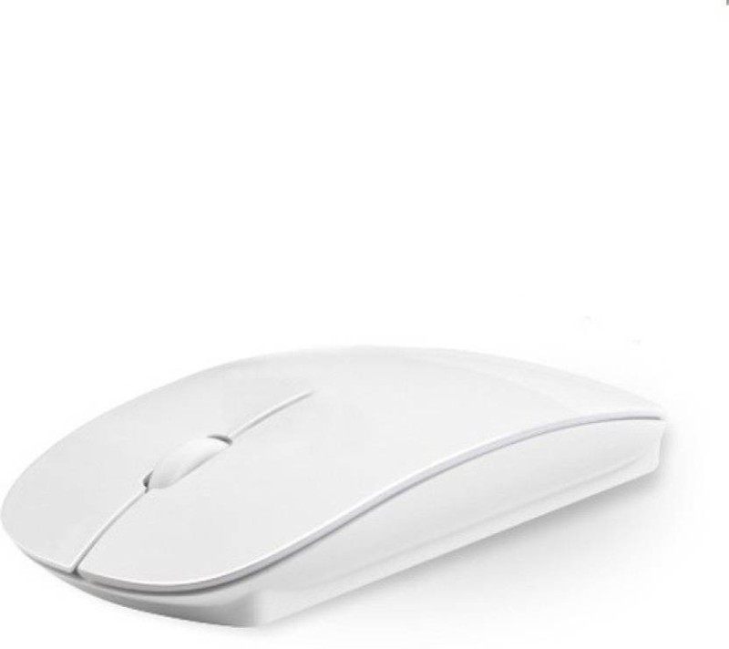 TECHON Ultra Slim Wireless Optical Mouse(USB, White)