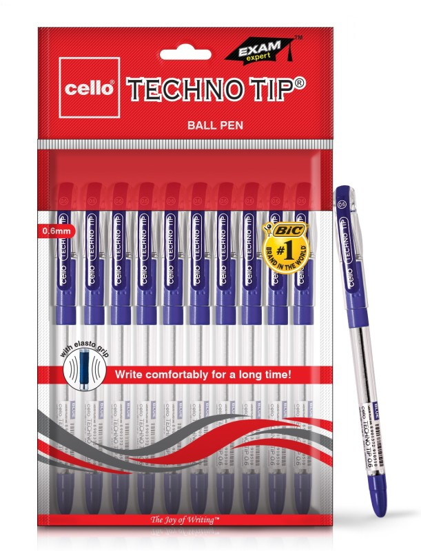 Cello Technotip Blue Ball Pen(Pack of 10)