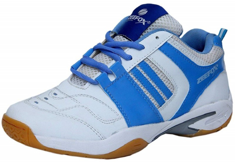 Zeefox Badminton Shoes For Men(Blue, White)