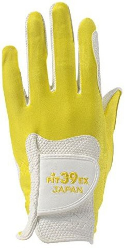 Fit39 EX Golf Gloves (L, White, Yellow)