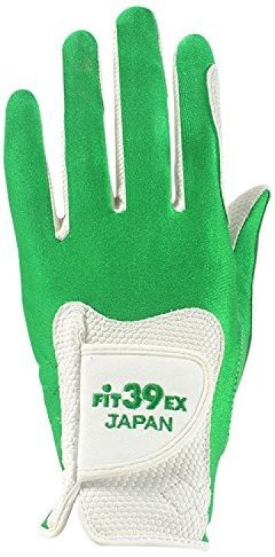 Fit39 EX Golf Gloves (XL, White, Green)