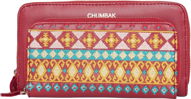 Chumbak Women Red Canvas Wallet(14 Card Slots)