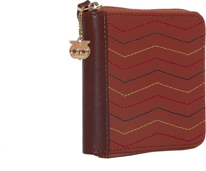 Chumbak Women Brown Canvas Wallet(4 Card Slots)