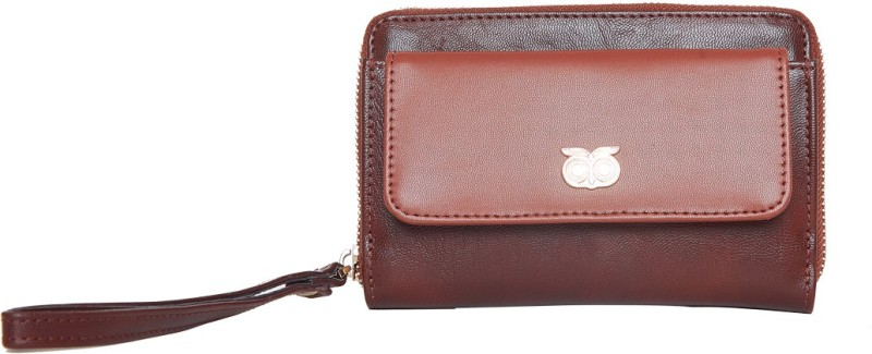Chumbak Women Brown Canvas Wallet(6 Card Slots)