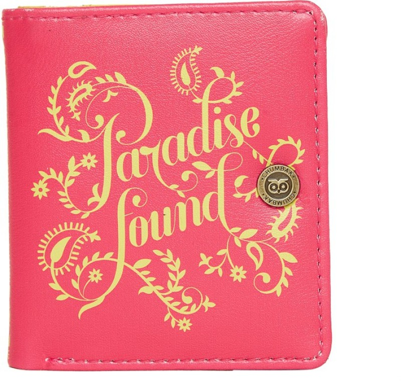 Chumbak Women Pink Canvas Wallet(6 Card Slots)