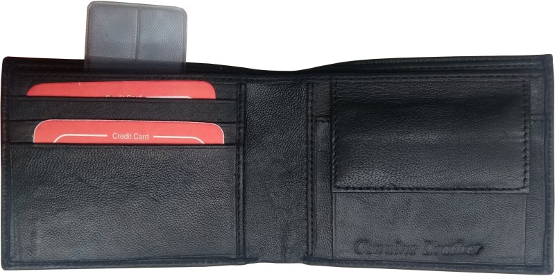 Puma Men Formal, Casual Black Genuine Leather Wallet(3 Card Slots)