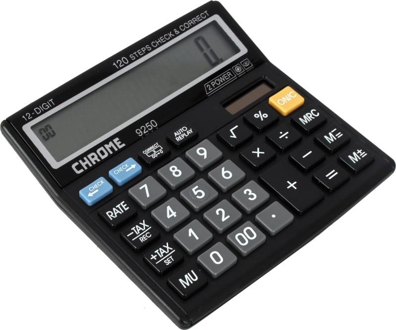 Chrome 9250 Check & Correct Basic  Calculator(12 Digit)
