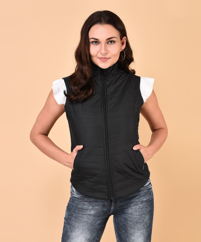 Pepe Jeans Sleeveless Solid Womens Jacket