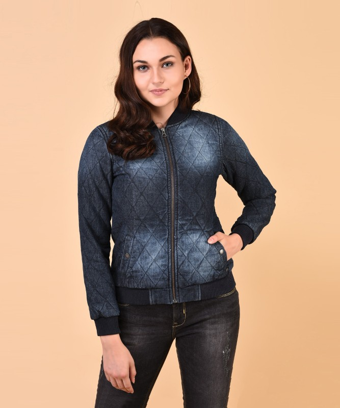 Pepe Jeans Full Sleeve Solid Womens Denim Jacket
