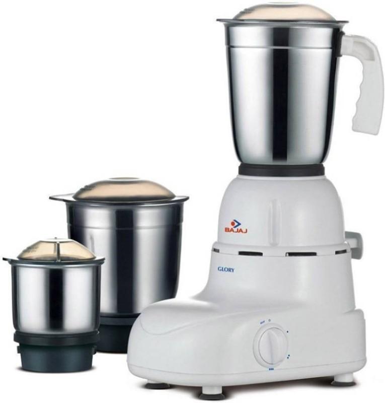 Bajaj 410167 500 Mixer Grinder(White, 3 Jars)