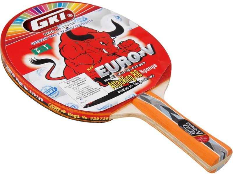 GKI Euro V Table Tennis Racquet (Multicolor) By One Shot Retail Multicolor Table Tennis Racquet(400 g)