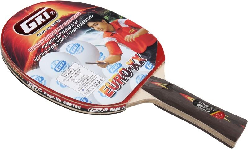 GKI Euro XX Table Tennis Racquet By One Shot Retail Multicolor Table Tennis Racquet(400 g)