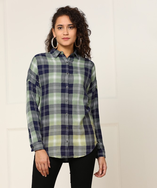 Wrangler Women Checkered Casual Club Shirt