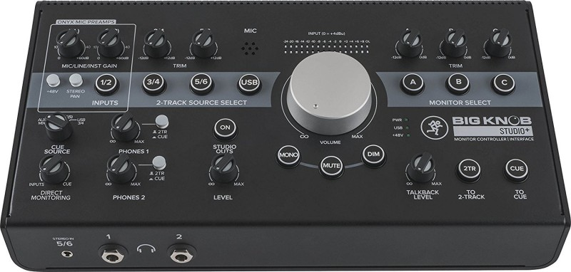Mackie BIG KNOB STUDIO PLUS Monitor Controller Interface Powered Sound Mixer
