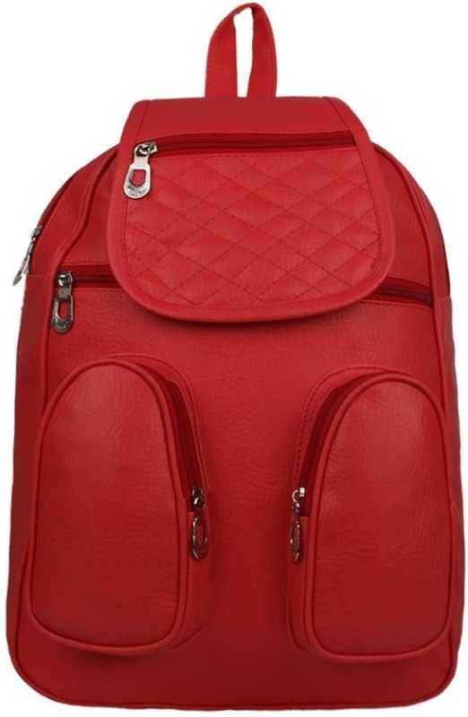 Radhe Collection RADHE BACKPACK RED Waterproof Backpack(Red, 10 L)