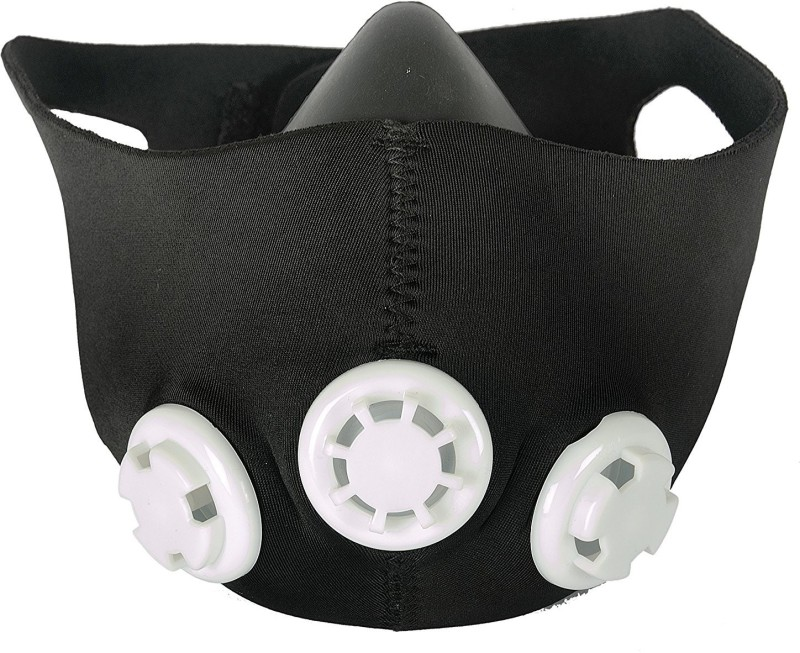 Hipkoo Cockatoo Fitness Training Mask With Three Resistance Valves Elevation Training Mask(Large)