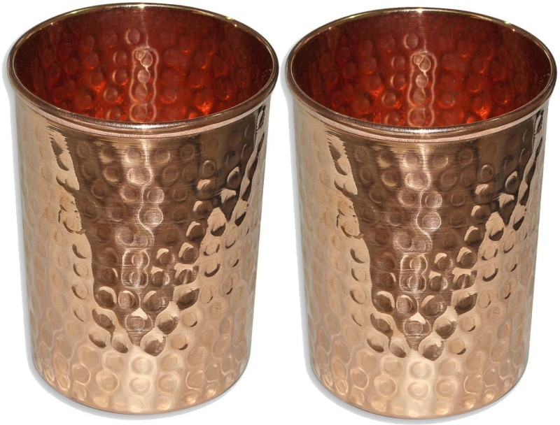 Saanvi Creations Copper Glass-A1 Glass Set(Copper, 150 ml, Brown, Pack of 2)