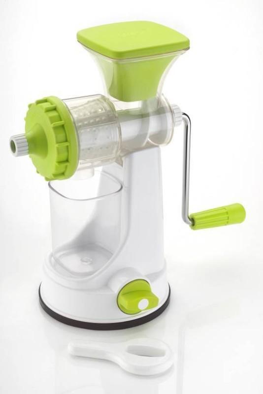 Radhey Ganesh Vegetable & Fruit Juicer Plastic Hand Juicer(White, Green Pack of 1)