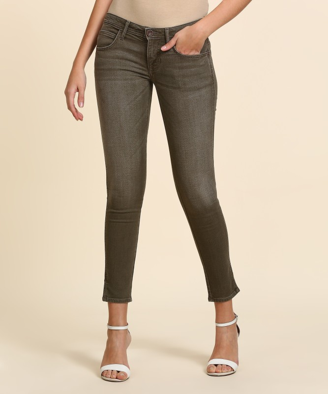 Wrangler Skinny Women Beige Jeans