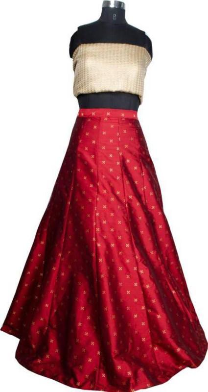 Nirvan Fashion Digital Print Lehenga Choli(Maroon)