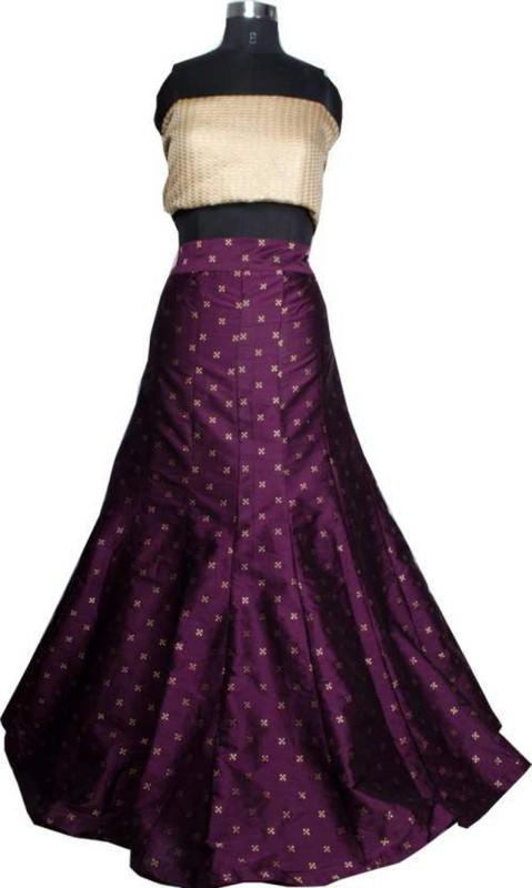 Nirvan Fashion Digital Print Lehenga Choli(Purple)