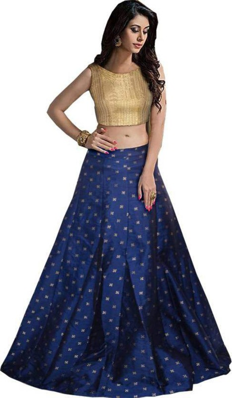 Nirvan Fashion Digital Print Lehenga Choli(Blue)